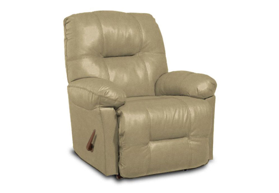 Best Zaynah Stone Leather Match Recliner