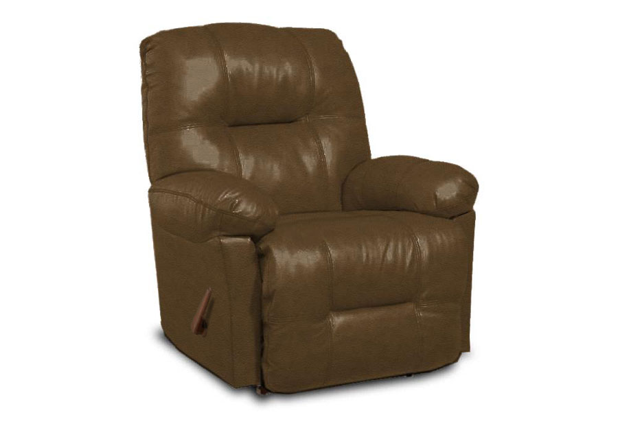 Best Zaynah Saddle Leather Match Recliner