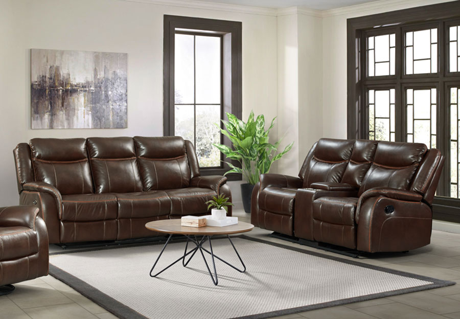Lane Carrera Brown Power Reclining Sofa and Reclining Loveseat