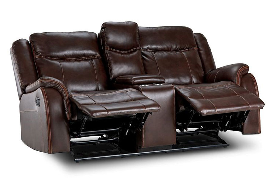 Lane Carrera Brown Reclining Sofa and Reclining Loveseat