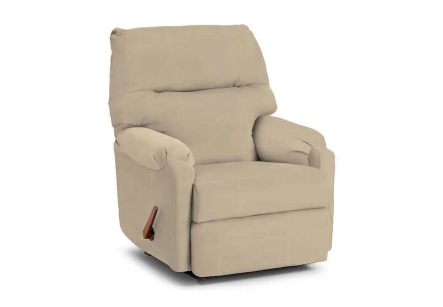 Best Jojo Cream Leather Match Rocker Recliner