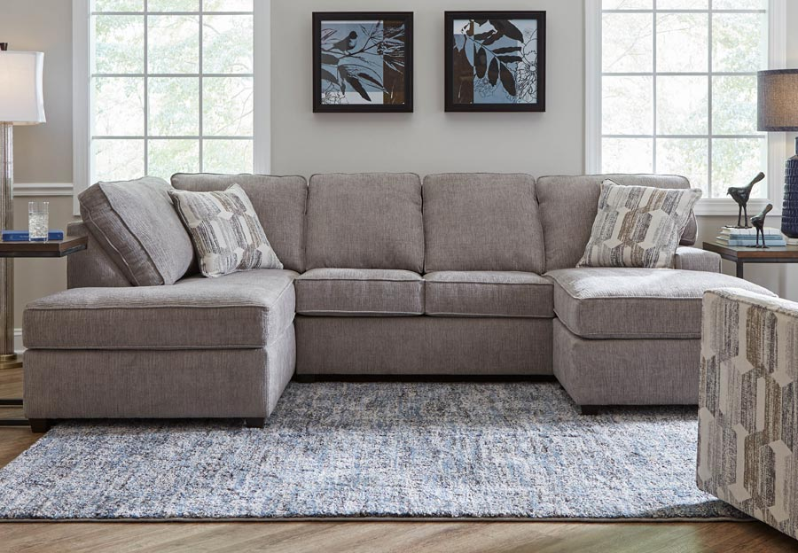 Lane Reed Cloud Grey Two Chaise Sectional, Sectional Living Room Furniture