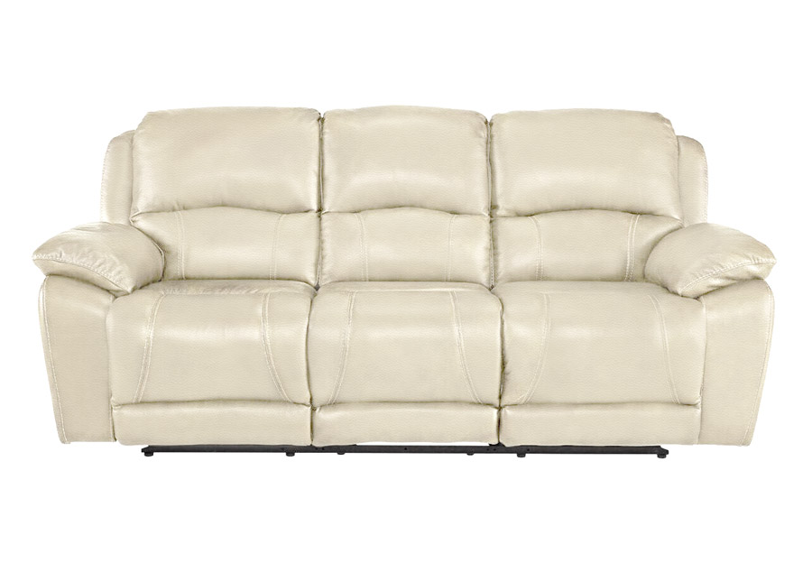Cheers Princeton Bone Leather Match Dual Power Reclining Sofa and Reclining Console Loveseat