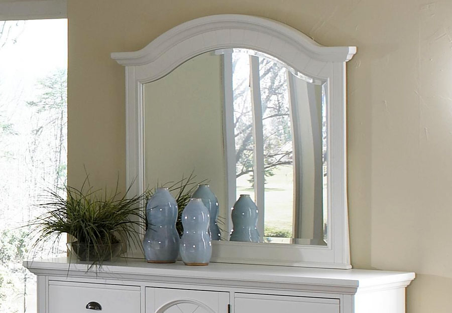 Elements Brook White Landscape Mirror