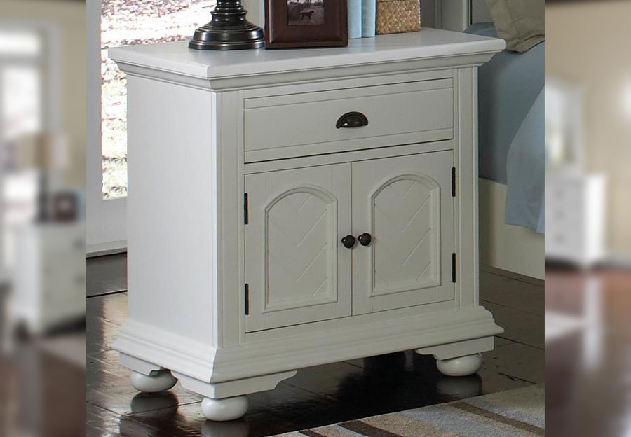 Elements Brook White Two Door Nightstand