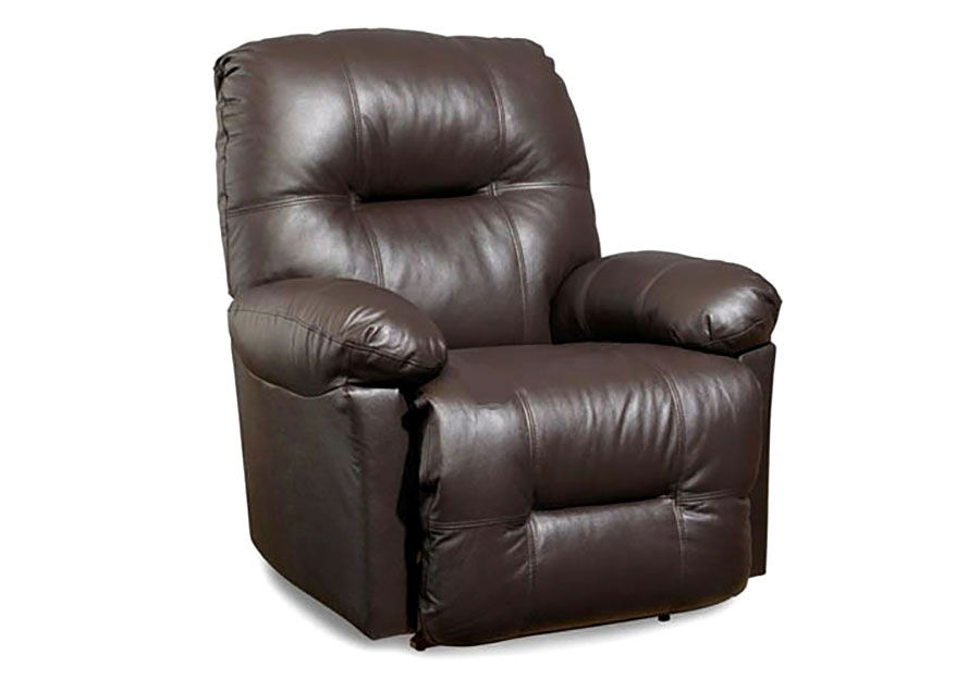Best Zaynah Chocolate Leather Match Swivel Rocker Recliner