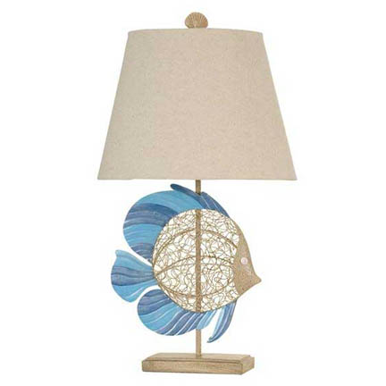 StyleCraft Poly Fish Table Lamp