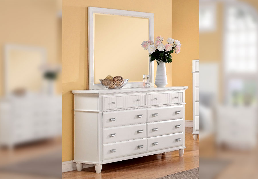 Elements Spencer White Dresser