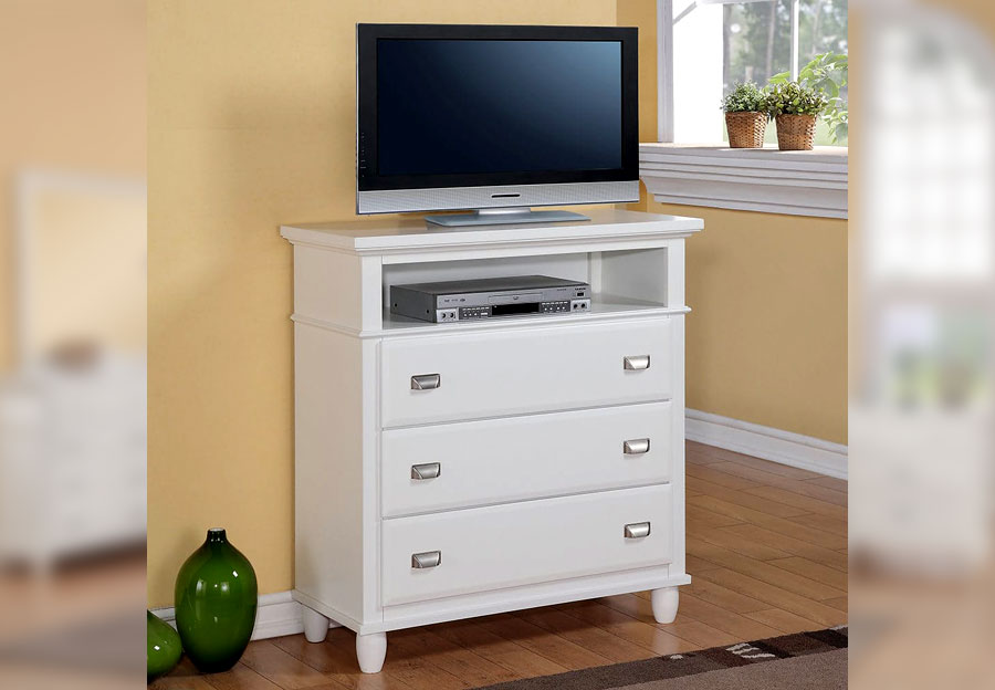 Elements Spencer White TV Stand