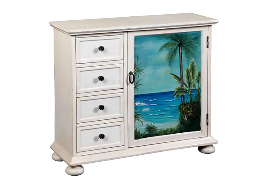 Coast to Coast 81063 Lahaina Seaview with Four Drawers and One Door in White