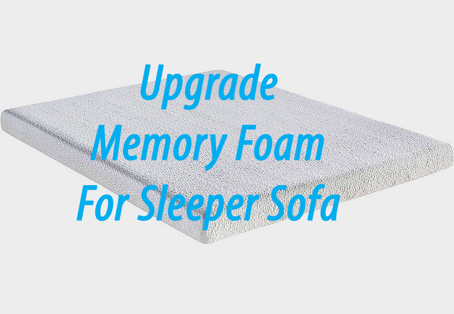 Classic Brands Upgraded Twin Memory Foam Sleeper Mattress