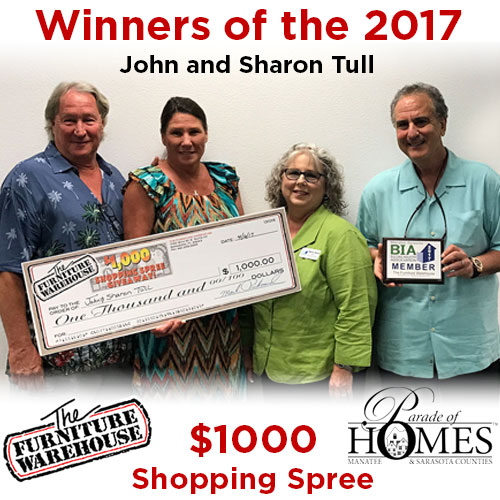 2017 winners of Parade of Homes $1000 Shopping Spree